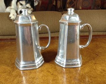 RWP Wilton Armetale Hollowware Mulberry Hill Salt and Pepper Shakers with Handles