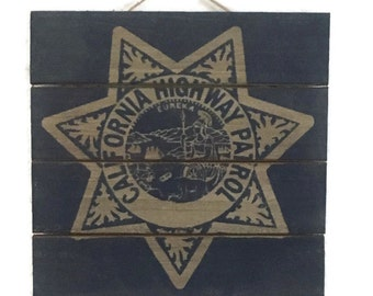 CHP Sign, California Highway Patrol Wood Sign, Home Decor, Wall Art, Law Enforcement, Police Officer Gifts