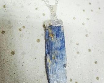 Blue Kyanite Necklace, Blue Kyanite Crystal Point necklace, Blue Kyanite Jewellery, Blue Kyanite Necklace, Birthday Necklace, Blue Kyanite
