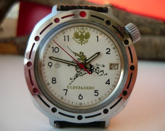 "Limited edition, Collectable Vostok Komandirskie ""ESAULSKIE"" / Vintage wrist watch / men's Wostok / Mechanical watch / USSR / Soviet Union"