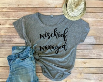 Mischief Managed Dolman - Harry Potter - Women's Clothing - Harry Potter Fan - Women's Shirt - Grey - Disney Trip - Universal Studios Trip