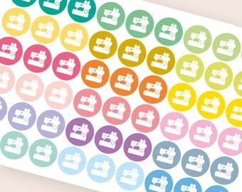 54 sewing sticker, sewing machine sticker, quilting sticker, functional stickers, hobby planner sticker, eclp filofax happy planner kikkik