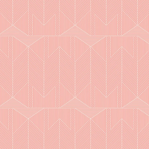 Changing Pad Cover >> Wonderful Things Journey in Blush >> Made-to-Order pink boho changing pad, arrow changing pad, blush triangle