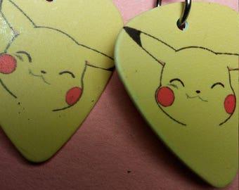 Pokemon guitar pick earrings