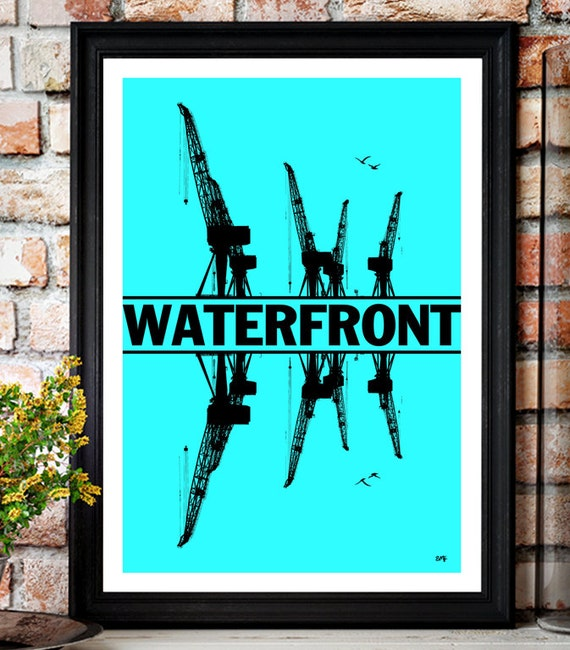 Simple Minds // Waterfront // Minimalist Poster // Unique A4 / A3 Art Print