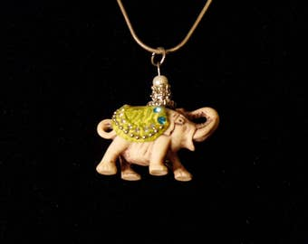 lucky elephant necklace east Indian style.
