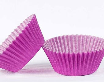 50pc Solid Purple Color Standard Size Cupcake Baking Cups Liners Wrappers