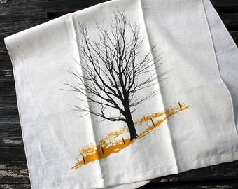 Winter Farm Tea Towel