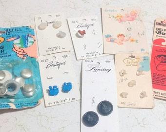 Vintage button lot 8 cards children's buttons cover buttons
