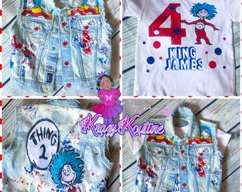 thing 1 thing 2 twin vest set