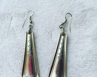 Vintage silverplate spoon handle earrings