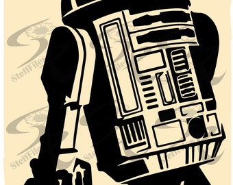 0545_R2D2 ROBOT Star Wars Vector,SVG,DXF,ai, png, eps, jpg,Signature,Download files, Digital, graphical