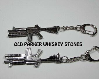 M16 Key Chain. AR15 Key Chain, Rifle Key Chain, Military Key Chain, M16 Key Ring,