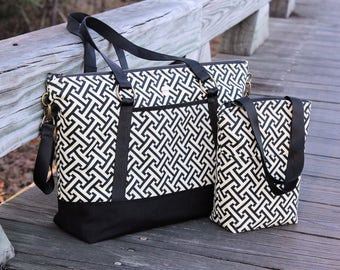 Diaper Bag with Stroller Straps and Insulated Bottle Bag PDF Pattern