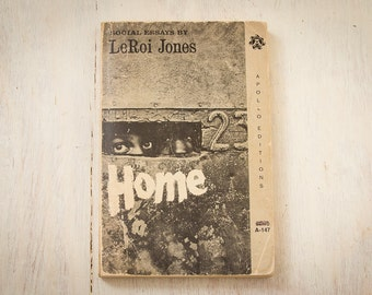 HOME - Social Essays By LeRoi Jones (Amiri Baraka) (Apollo Editions / 1966)  African American Studies / Vintage Paperbacks Books