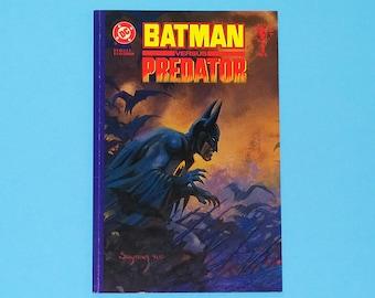 Batman Versus Predator Comic, Batman vs Predator Comic Book, DC Comics Batman, 1991, B1