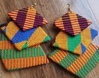Ghana Naomi Kente earrings