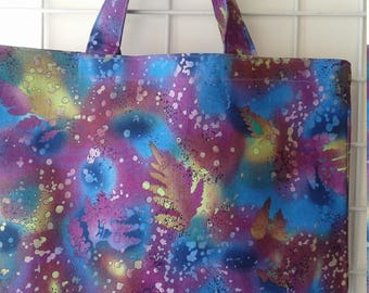 Purple Abstract Market Tote Bag
