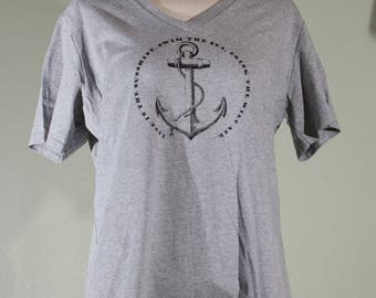 Women's Anchor Shirt with Emerson Quote