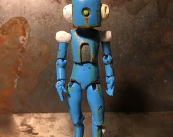 Blue rusty robot
