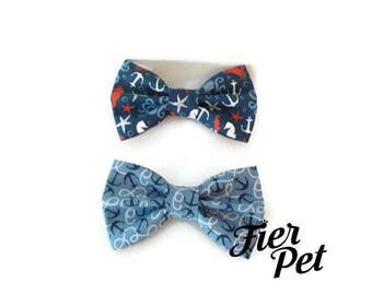 dog bowtie,Bow tie for dog collar,bowtie ,ocean,anchor ,fier-pet,fierpet,large dog collar,dog accessories
