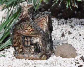 Itty Bitty Hollow House for Miniature Garden, Fairy Garden