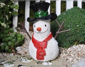 Snowman for Miniature Garden, Fairy Garden
