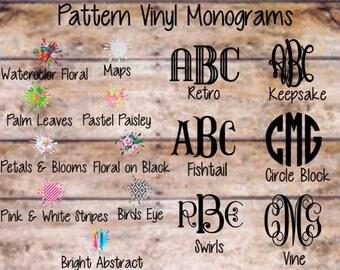 Pattern Monogram Decal