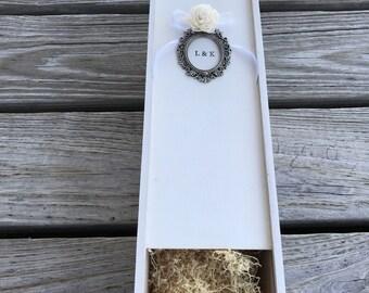 Wine box personalized vintage wedding