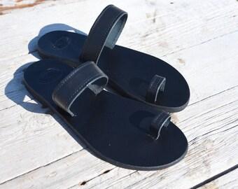 Black Sandals, Leather Sandals, Greek Sandals, Handmade Sandals,  Summer Sandals, Gladiator Sandals,Roman Sandals, Women Sandals, Flip Flops