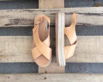 Espadrilles, Platform Sandals,Gladiator Sandals, Greek Sandals , Handmade Sandals, Beach sandals, Greek Leather Criss Cross Sandals, Wedges