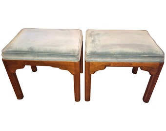SOLD-Pair of Ethan Allen Stools