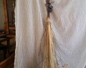 DIY Hawthorn Besom making Kit with Hawthorn wood Broom Stick - Handfasting Wedding Ceremony, Protection or Energy Clearing
