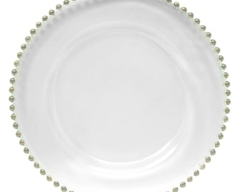 """Glass Beaded Charger Plate 13"""""""