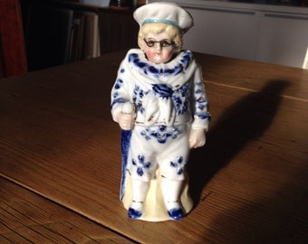 Curious Victorian China Figurine