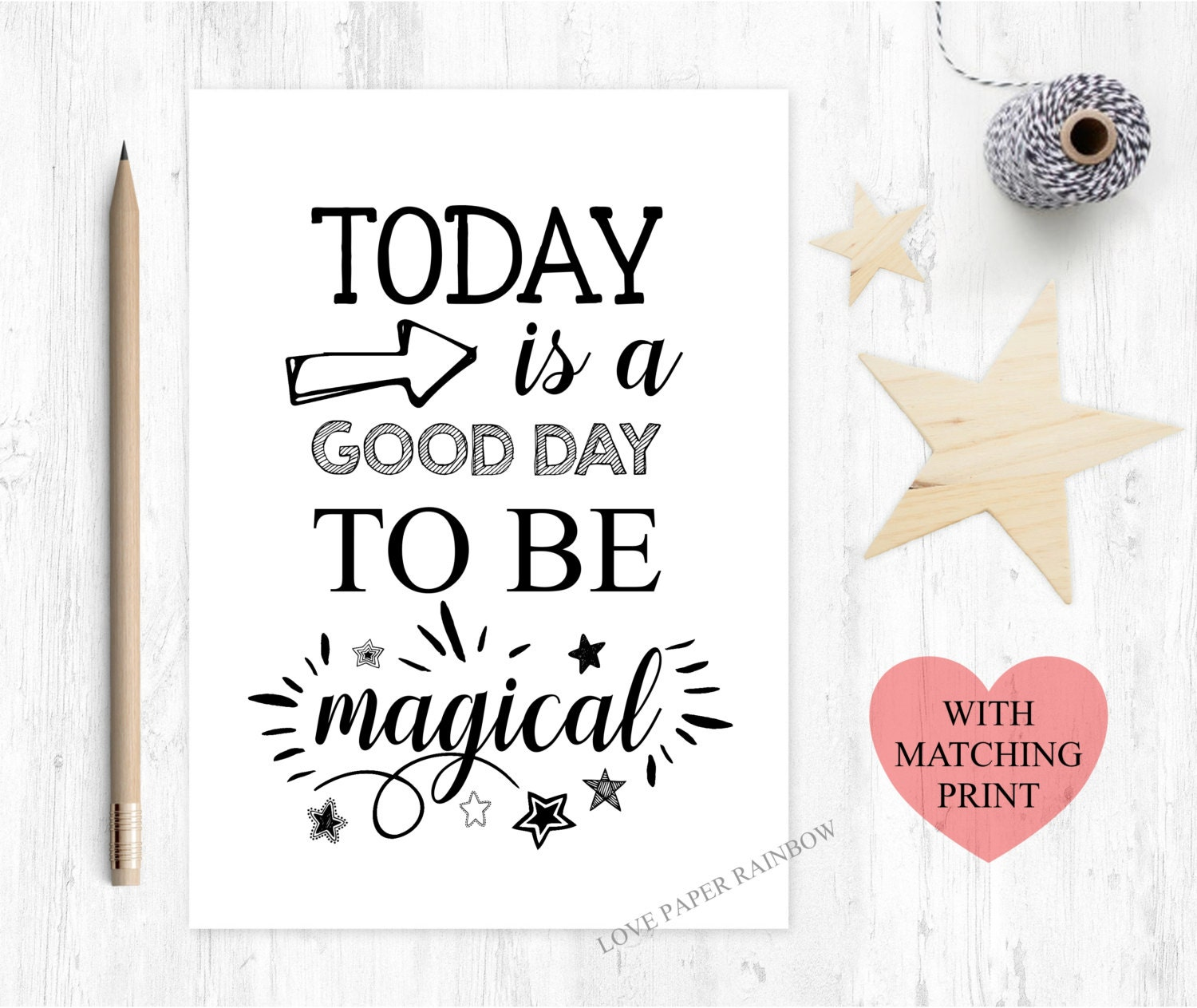 Today Is A Good Day To Be Magical Magical Card Motivational Il Fullxfull  Today Is A Good Day To Be Magical Good Luck Cards To Print Good Luck Cards  To Print  Good Luck Cards To Print