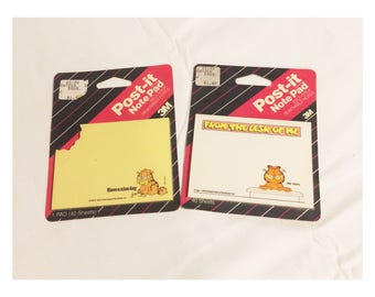 Retro Garfield Post It Notes Lot of 2