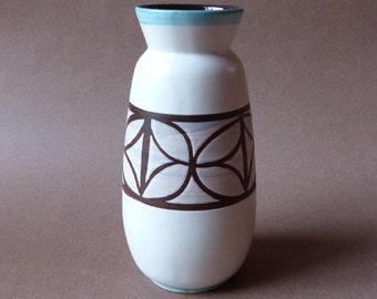 Bay 617-20 vintage vase white / grey West-Germany