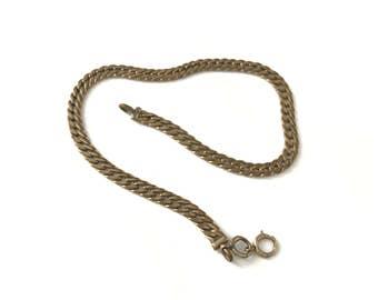Vintage Watch Chain, Destash Watch Fob Chain, Old Chain
