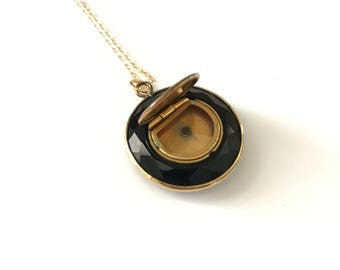 Antique Victorian Glass Mourning Locket