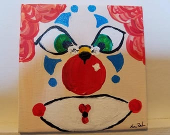 No clowning with you around 4×4  original clown and bee art