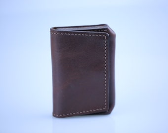 Leather business card holder, Mini Men's Wallet