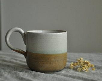 New White and Grey Tea/Coffee Mug