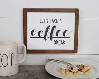 coffee break etsy. Black Bedroom Furniture Sets. Home Design Ideas