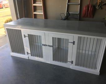 Side X Side Dog White dog kennel