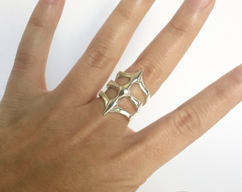 Two Spikes - Sterling Silver Ring