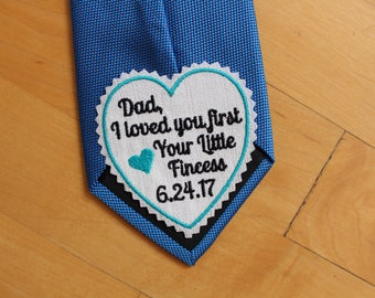 tie patch for dad, suit label,dress label, Dad I loved you first,Father of Bride Gift,Dad's Gift,Personalized Gift,Wedding Gift,Canada,TLH18