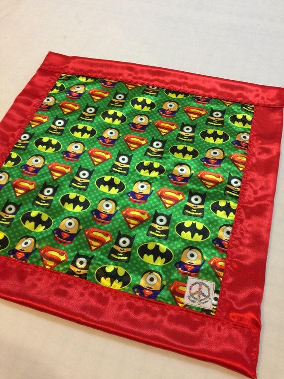 Minion Hero Silky Baby blanket, Silky blanket, Stroller blanket, Lovey, silky, Homemade.