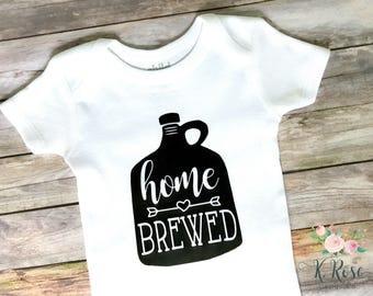 Home Brewed Onesie, Funny Baby Onesie, New Baby Onesie, Baby Shower Gift, New Baby Gift, Home Brewed, Beer Onesie