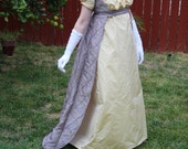 Custom order Regency Over Gown with 3/4th sleeves